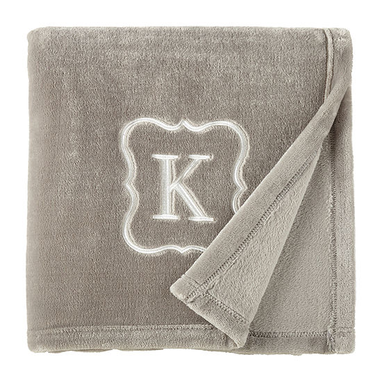 North Pole Trading Co. Monogram Throw