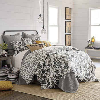 Jcpenney Home Bailey 4 Pc Floral Reversible Comforter Set Color Multi Jcpenney
