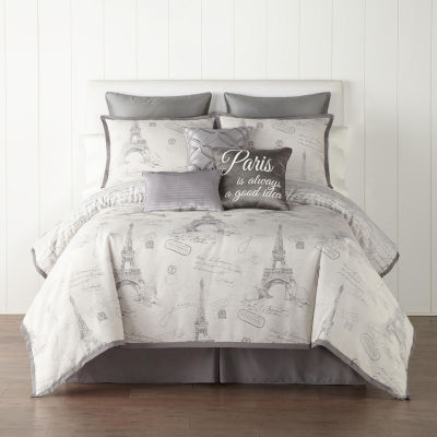 JCPenney Home Paris 7-pc. Jacquard Comforter Set