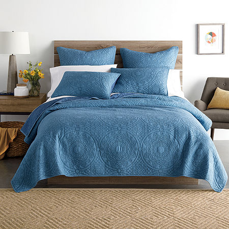 JCPenney Home Emma Quilt, One Size , Blue