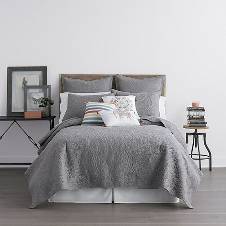 JCPenney Home Emma Quilt, One Size , Gray