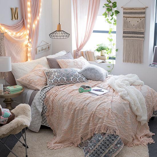JCPenney Home Jasmine Chenille Coverlet Set