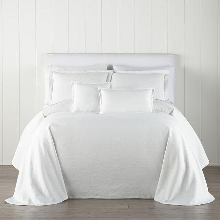 Liz Claiborne Daphne Floral Coverlet, One Size , White - 72130880018