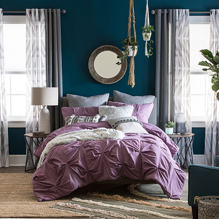 JCPenney Home Lydia 3-pc. Comforter Set, One Size , Purple