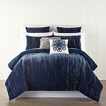 JCPenney Home Crushed Velvet 3-pc. Comforter Set