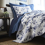 JCPenney Home Emma Indigo Rose Floral Reversible Quilt