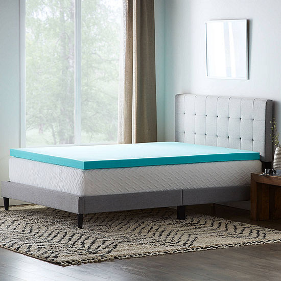 """Dream Collection by Lucid 3"""" SureCool Gel Memory Foam Mattress Topper"""