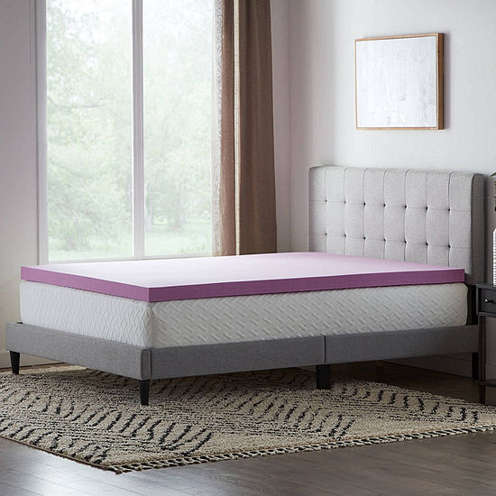 """Dream Collection by Lucid 3"""" Lavender Infused Memory Foam Mattress Topper"""