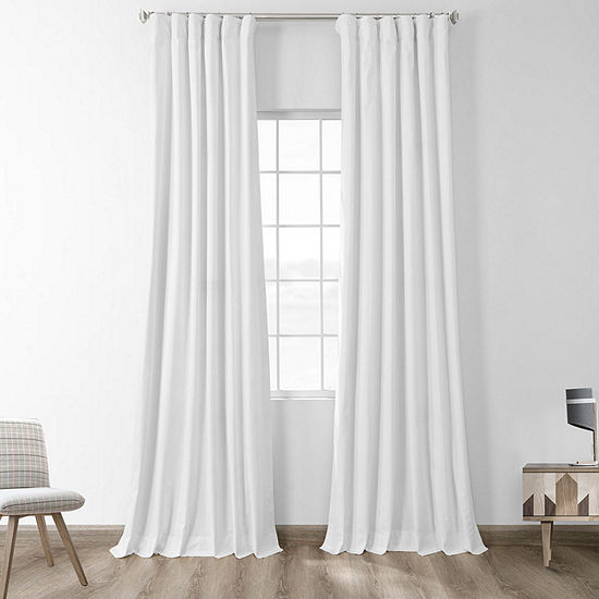 Exclusive Fabrics & Furnishing Solid Cotton Blackout Curtain Panel