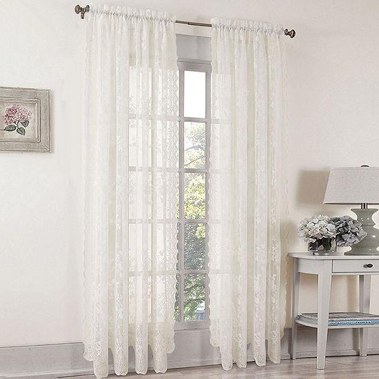 Lichtenberg Rod-Pocket Sheer Curtain Panel