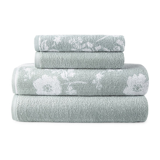 JCPenney Home Jillian Floral 4-pc.Bath Towel Set