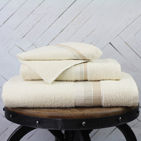 Inspired Surroundings Weft Stripe 6-pc. Quick Dry Solid Bath Towel Set