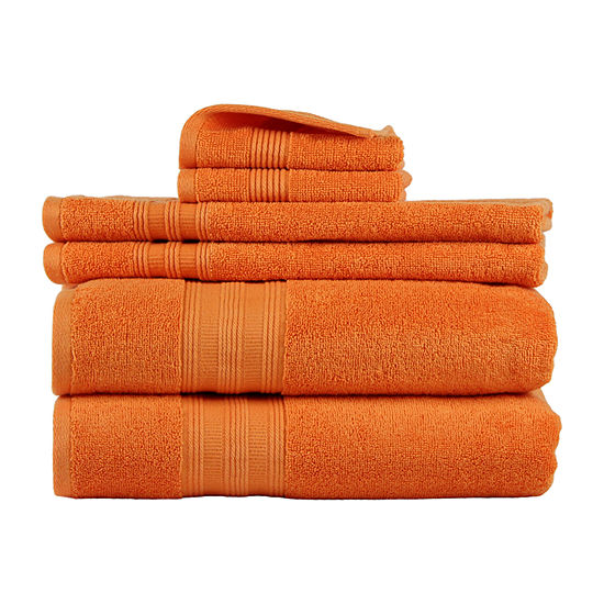 Freshee 6-pc. Quick Dry Solid Bath Towel Set