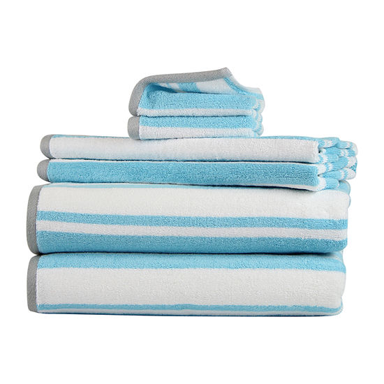 Freshee Stripe 6-pc. Quick Dry Stripes Bath Towel Set