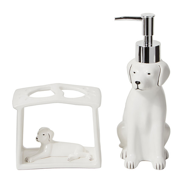 Saturday Knight Farmhouse Dogs Toothbrush Holder