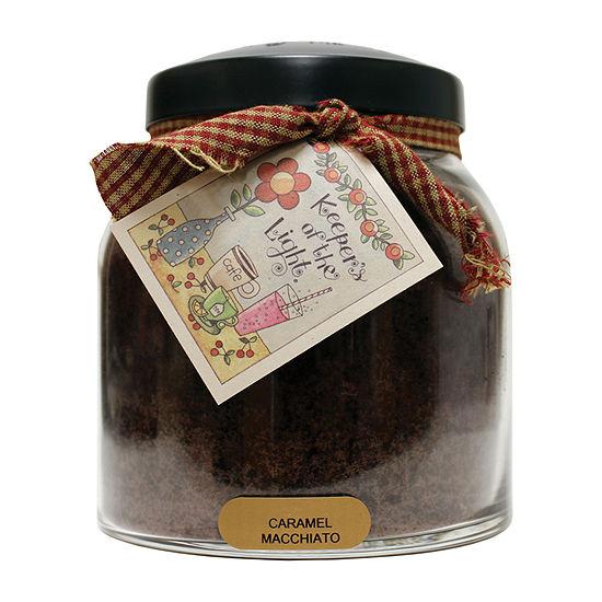 A Cheerful Giver 34oz Papa Caramel Macchiato Jar Candle