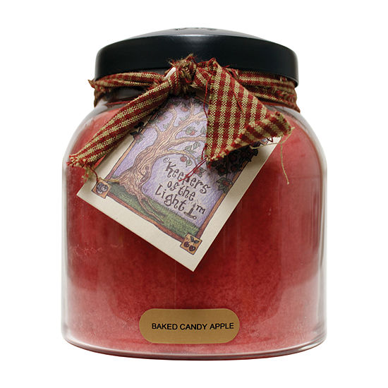 A Cheerful Giver 34oz Papa Baked Candy Apple Jar Candle