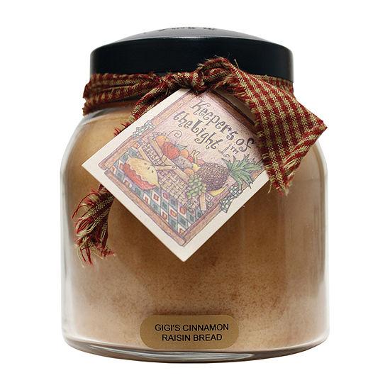 A Cheerful Giver 34oz Papa Gigis Cinnamon Raisen Bread Jar Candle