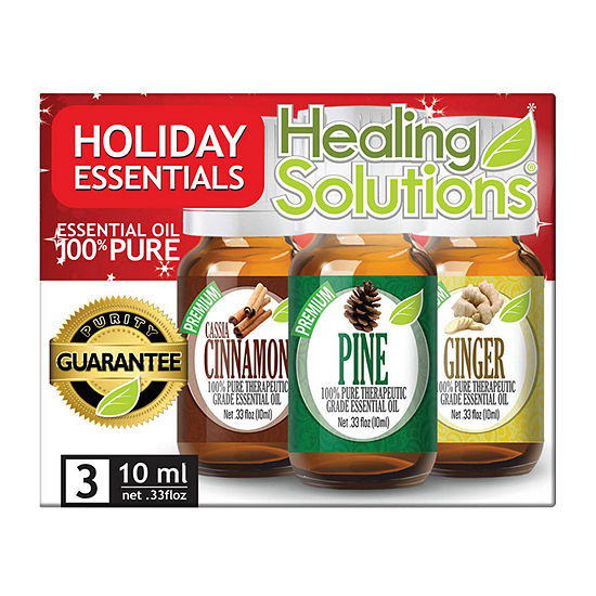 Healing Solutions Holiday Essentials 3 - Cinnamon; Pine; Ginger Essential Oil