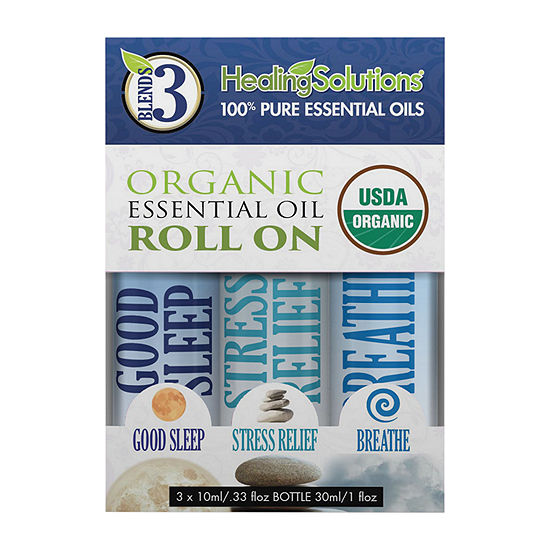 Healing Solutions Organic Blends 3 Roll-Ons Essential Oil
