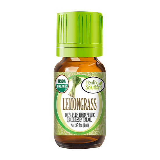 Healing Solutions Organic Lemongrass Essential Oil