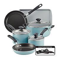 Farberware Cookstart 15-pc. DiamondMax Nonstick Cookware Set (Blue)