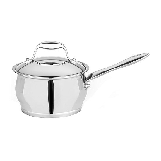 "BergHOFF 6.25"" 18/10 Stainless Covered Sauce Pan Stainless Steel Sauce Pan"