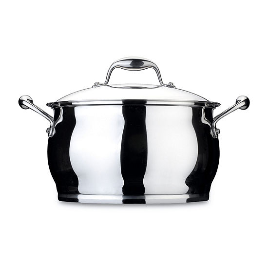 """BergHOFF 9.5"""" 18/10 Stainless Covered Stockpot Stainless Steel Stockpot"""