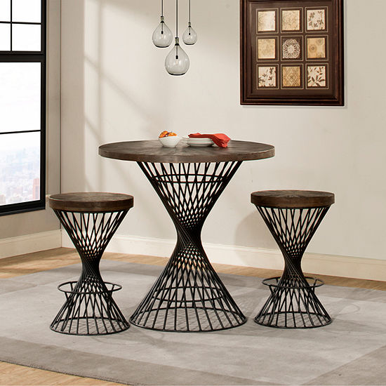 Kanister 3-Piece Round Table Dining Set