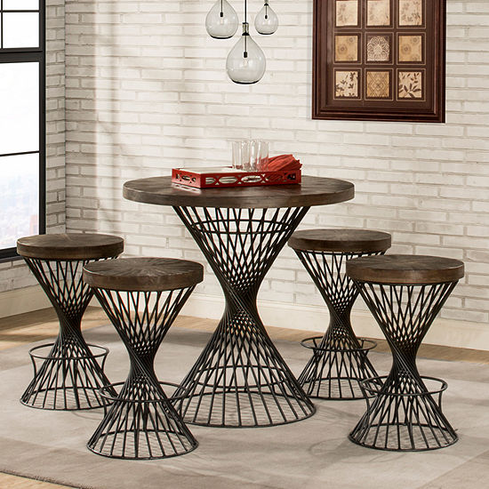 Kanister 5-Piece Round Table Dining Set