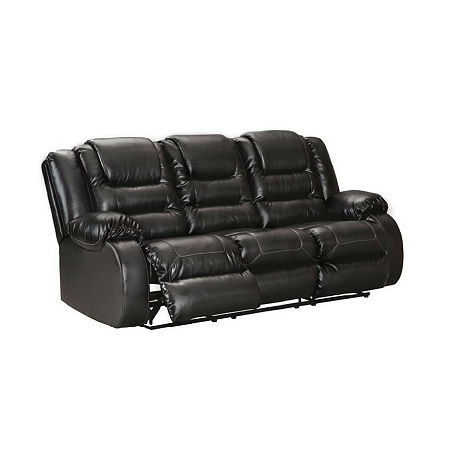 Signature Design by Ashley Rustin Reclining Sofa, One Size , Black