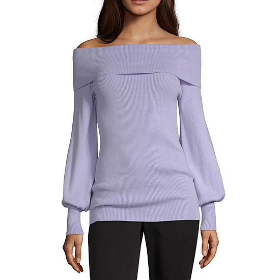 Worthington Womens Long Sleeve Marilyn Sweater