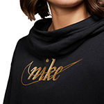 Nike Womens Cowl Neck Long Sleeve Glitter Sweatshirt