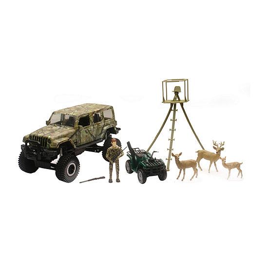 New Ray Jeep Wrangler Deer Hunting Set