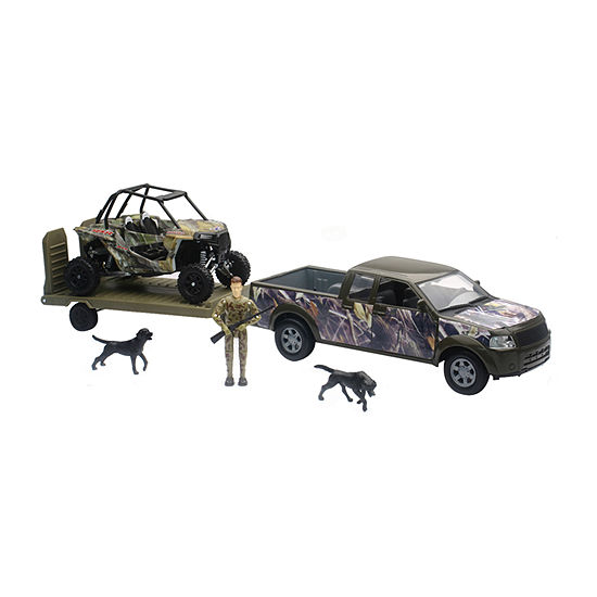 New Ray Green Camo Pickup Truck Set