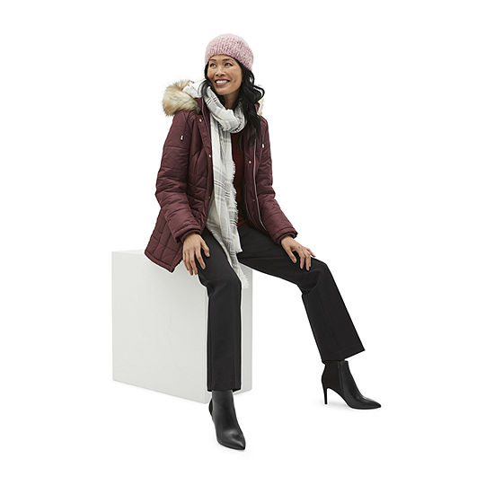 Shop the Look: Liz Claiborne Puffer and Mixit Scarf