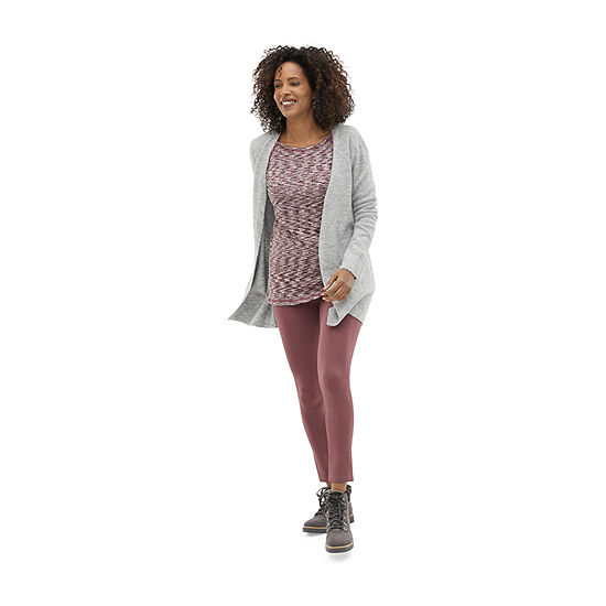 Shop the Look: Liz Claiborne Tunic Top, Cardigan and Slender Ankle Legging