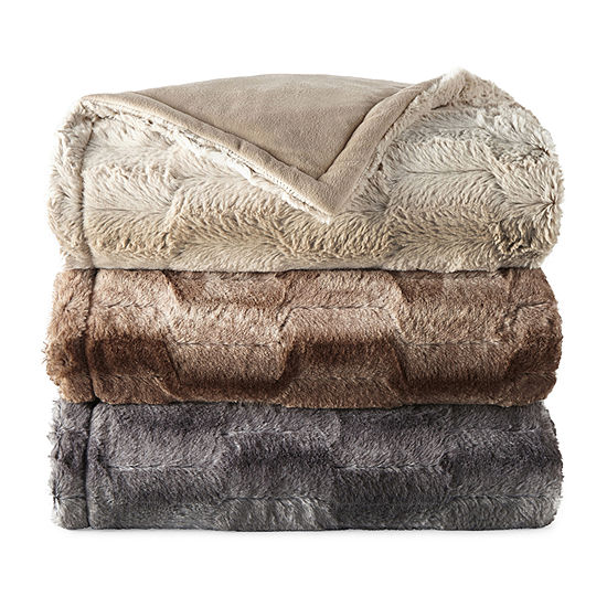 North Pole Trading Co. Whistler Faux Fur Throw