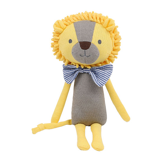 The Peanut Shell Plush Lion With Bowtie