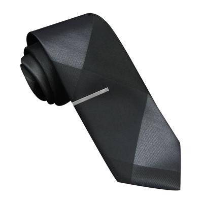 JF J. Ferrar® Pieced Panel Skinny Tie