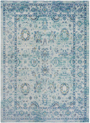 Shyrak Green-Blue Damask Runner