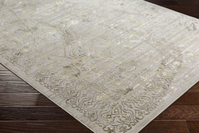 Prateek Brown Damask Area Rug