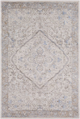 Sibylla Yellow-Brown Medallion Area Rug