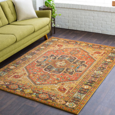 Pryderi Brown Medallion Area Rug