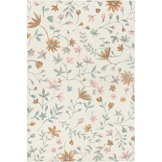 Rouzet Multi-Colored Floral Area Rug