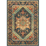 Raimondas Green Medallion Area Rug