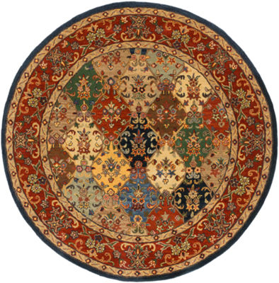 Suarez Multi-Colored Medallion Round Area Rug