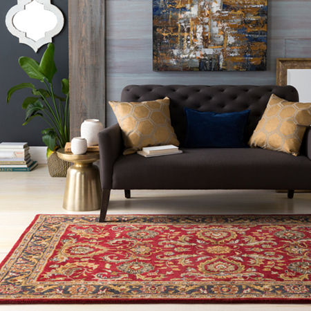 Tiana Damask Area Rug, One Size , Red Product Image