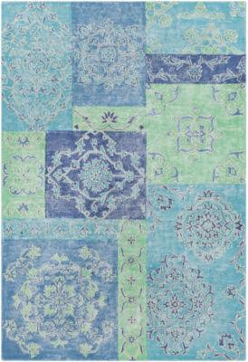 Tellervo Blue Floral Area Rug
