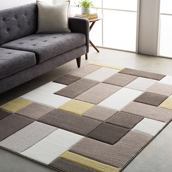 Thakurta Color Block Area Rug
